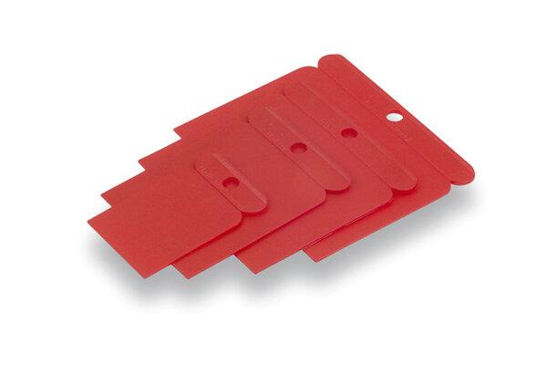 Kunststoff-Flächenspachtelsatz 4-tlg, 50, 75, 100 und 120 mm